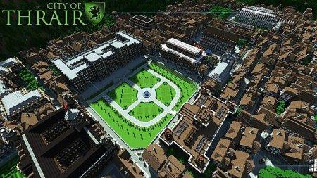 Майнкрафт карта в стиле большего города - City of Thrair