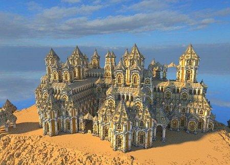 The Floating Potato City - карта средневекового города в Minecraft