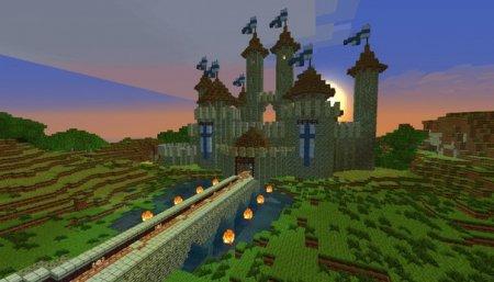 Сastle - карта средневекового замка для майнкрафт 1.5.2