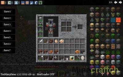 TooManyItems 1.7.2 - редактор инвентаря в Minecraft!