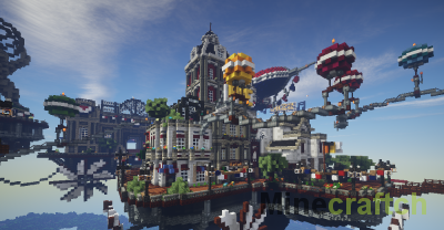 Карта Columbia - Bioshock Infinite в Minecraft!