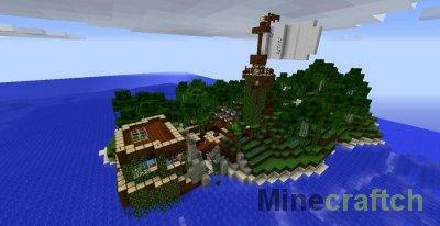 Остров Gloria - карта на приключения для Minecraft 1.6.4