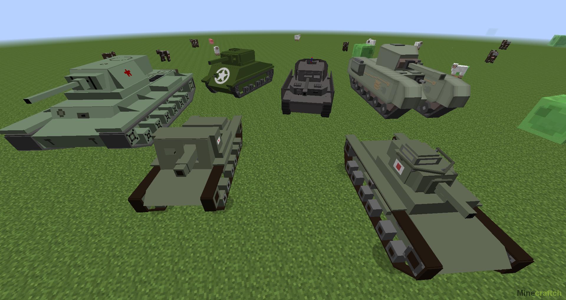 моды на танки без архива на майнкрафт 1.7.10 #3