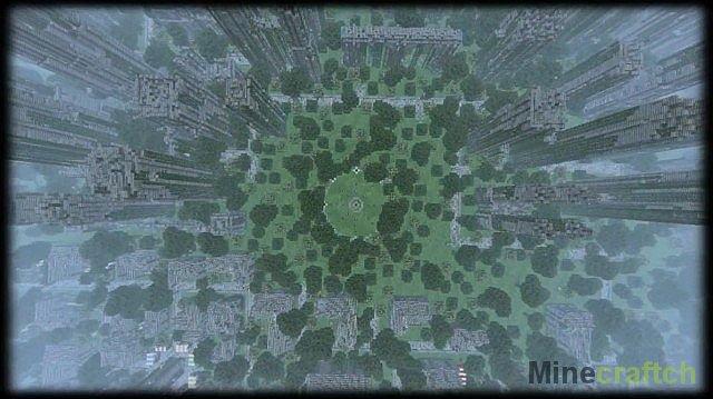 скачать карту заброшенный город для майнкрафт 1.7.10 #8