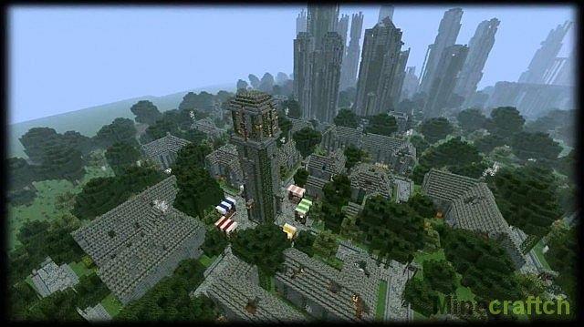 скачать карту заброшенный город для майнкрафт 1.7.10 #6