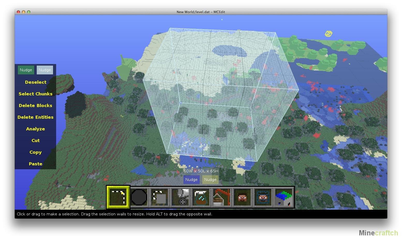 как открыть mc edit ом карту на новом майнкрафте #3
