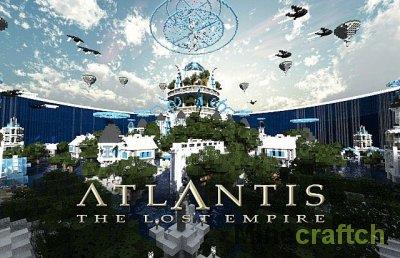 Карта подводного города Atlantis для Minecraft