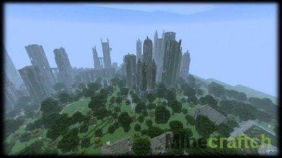 скачать карту заброшенный город для майнкрафт #3