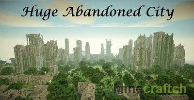 Огромная карта Заброшенный город для Майнкрафт