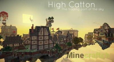 Волшебная карта Парящий остров для Minecraft