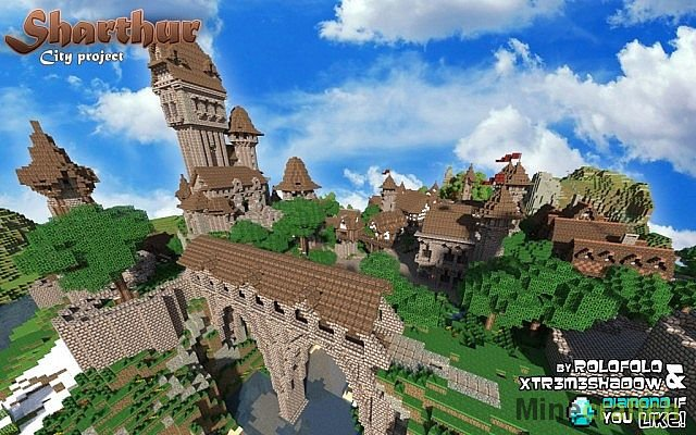 Карты на Майнкрафт 1.5 2 средневековый город | VK