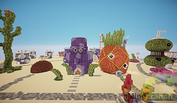 Карты для Майнкрафт Губка Боб