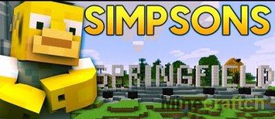 Карта Springfied - симпсоны в Майнкрафт