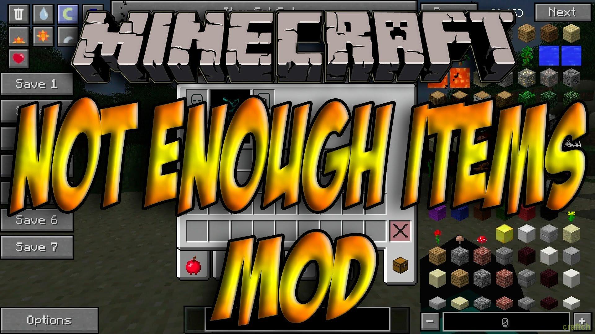 Как скачать мод not enough items для minecraft 1710 - e7f