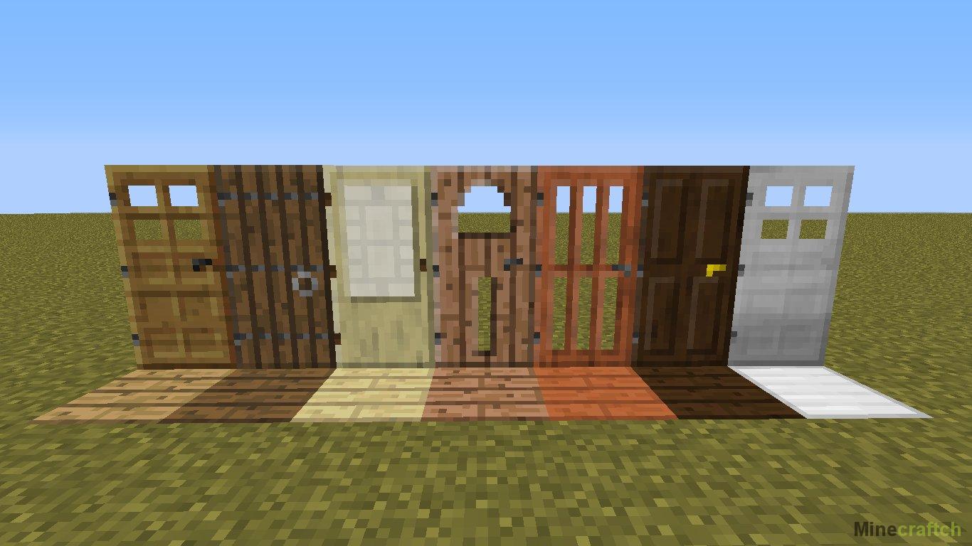 Как сделать открывающиеся двери в майнкрафте