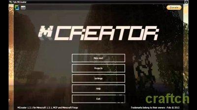 Программа для создания модов - MCreator 1.7.2/1.7.10
