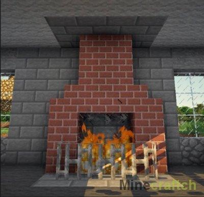 Видео гайд: Создаем красивый камин в Minecraft