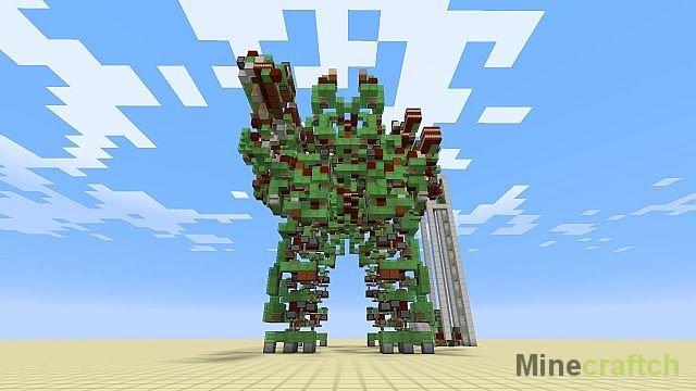 Карта Механический робот (Mega Gargantua) для Майнкрафт.