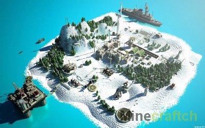Area 52 - карта Военная база для Майнкрафт