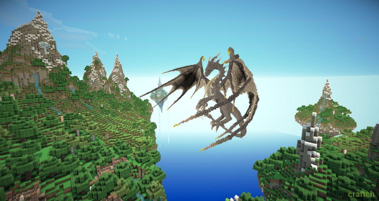 карты майнкрафт с драконом #10