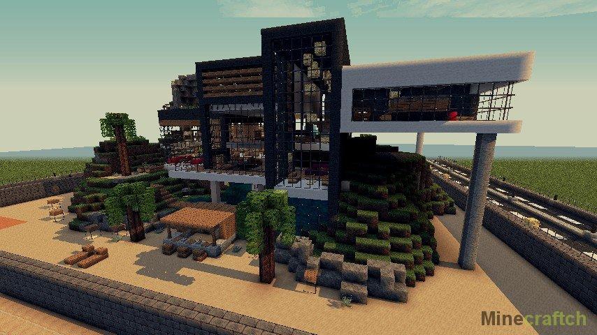 Как построить модерн дома в майнкрафте 1.5.2 видео