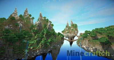 Скачать карту на Майнкрафт 1.8 летающие острова | VK