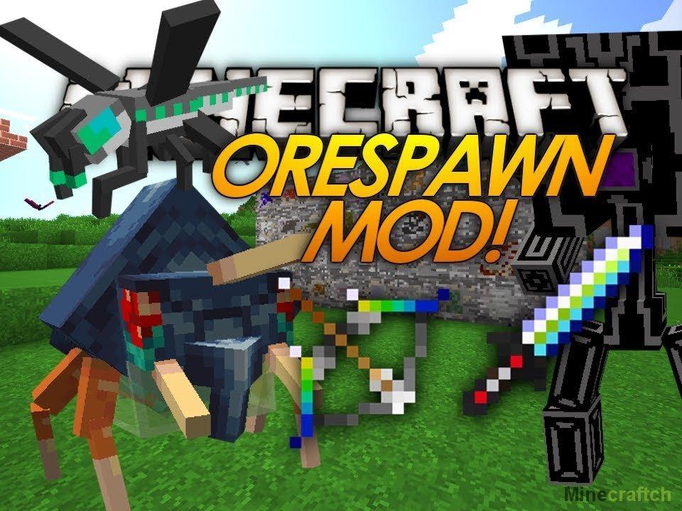 моды на майнкрафт 1 6 4 orespawn mod #5