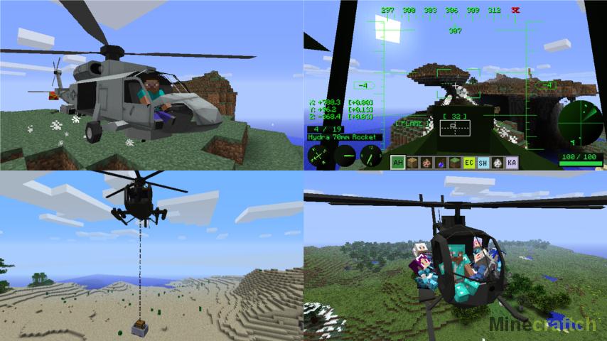скачать мод helicopters для майнкрафт 1.7.10 #5