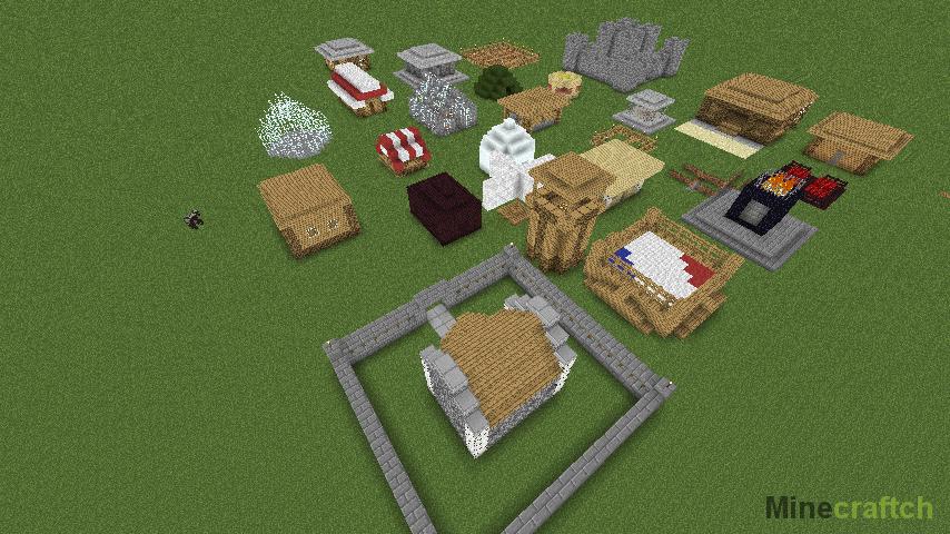 Быстрая постройка домов|Mod iHouse Minecraft 1.7.10