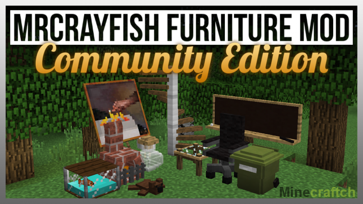 Furniture мод на мебель для Minecraft 1.8.8/1.8/1.7.10/1.7 ...