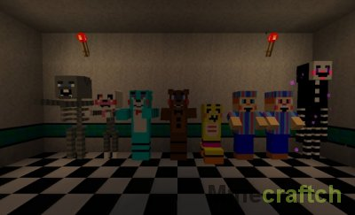 Five Nights at Freddy's - Текстуры 5 Ночей с Фредди для Майнкрафт