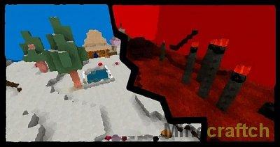 Dimension jumper - Паркур карта для Майнкрафт