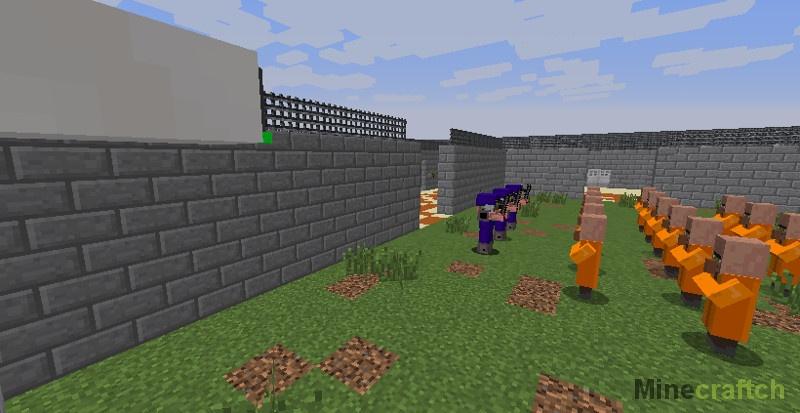 из в майнкрафт побег играть на карте как тюрьмы