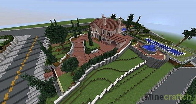 Скачать карту с красивым домом