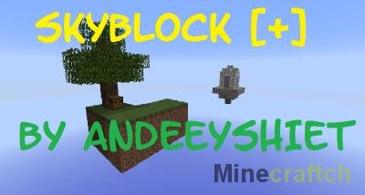 Карта на выживание SkyBlock Plus для Minecraft 1.9