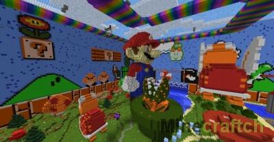 Mario Hide and Seek — прятки на карте Марио для Minecraft