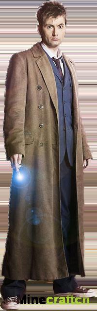 Скин Доктор Кто 10-й для Майнкрафт