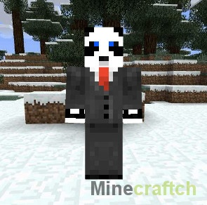 Скин Панда в костюме для Minecraft