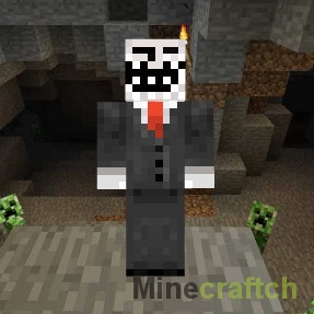 Скин Trollface для Minecraft