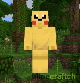 Скин покемона Pikachu для Minecraft