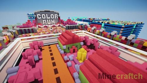 Color Run — карта для PvP в Minecraft 1.10.2