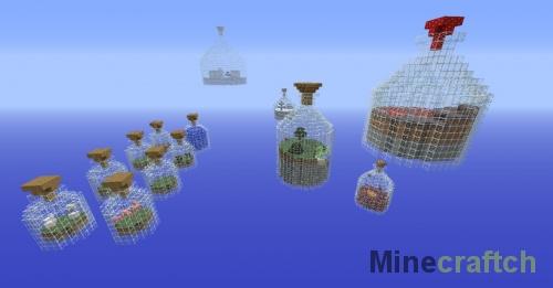 Карта Мир в бутылке для Майнкрафт