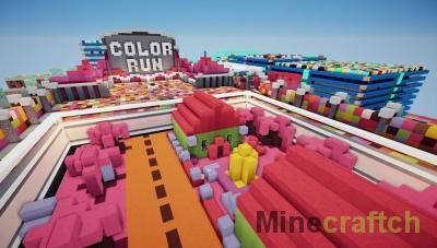 Color Run — карта для PvP в Minecraft 1.10.2/1.11