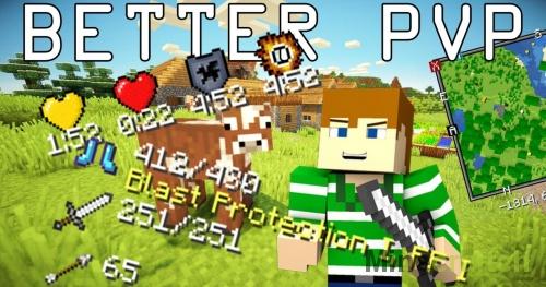 Мод Better PvP для Minecraft 1.9/1.9.4/1.10.2/1.11