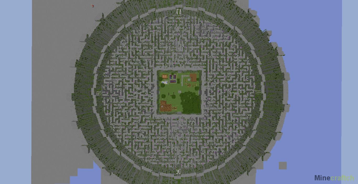 Карты в minecraft (бегущий в лабиринте) =)