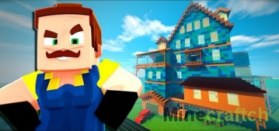Hello Neighbor – карта Привет сосед Альфа 1-2 для Minecraft