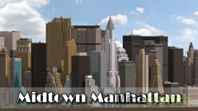 Midtown Manhattan — карта города New York для Minecraft