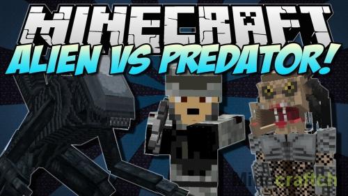 Alien vs Predator Mod — Чужой против Хищника в Майнкрафт 1.7.10