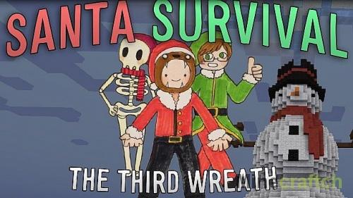 Santa Survival — новогодняя карта для Minecraft 1.8