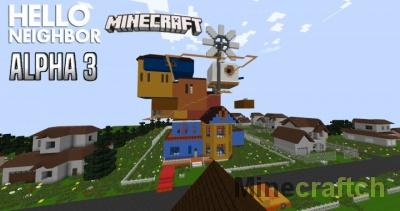 Карта Привет Сосед Альфа 3 для Minecraft 1.7.10